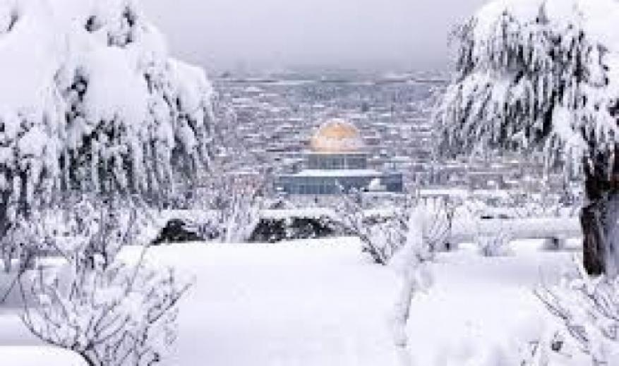 يوم الأربعاء القدس والضفة تكتسيان بالثلوج وقطاع غزة بحبيبات البرد