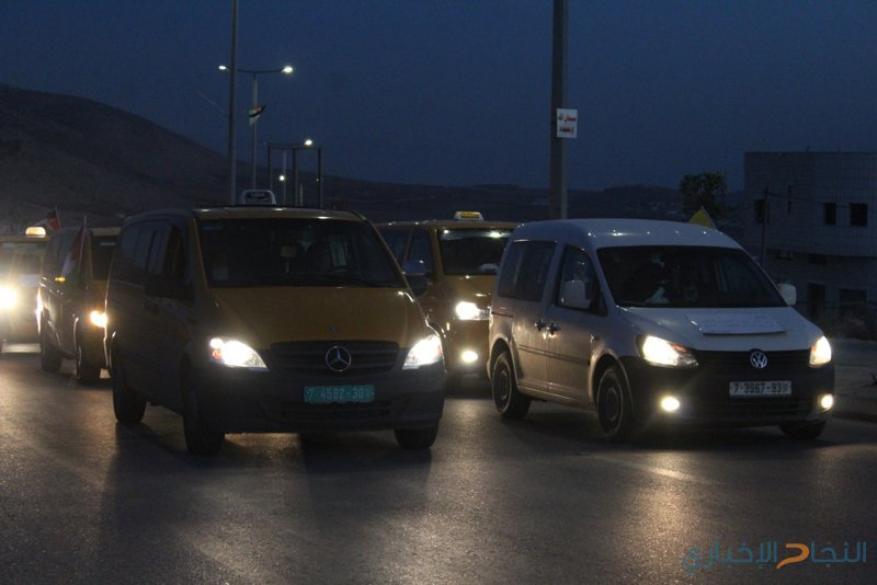 مسيرة مركبات في طوباس نصرة للقدس