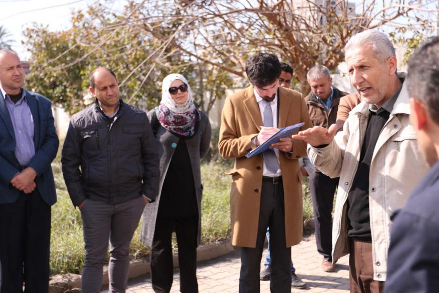 بلدية غزة تطلع وفدا دوليا على احتياجاتها من مشاريع البنية التحتية