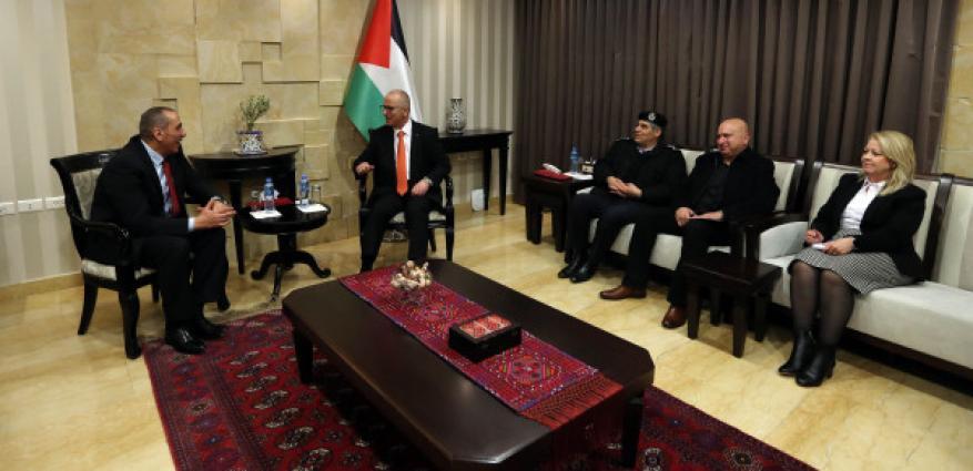 الحمد الله يستقبل مدير الأمن العام الأردني