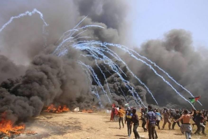 حيّت جماهير قطاع غزة ونعت شهيدي العودة وكسر الحصار