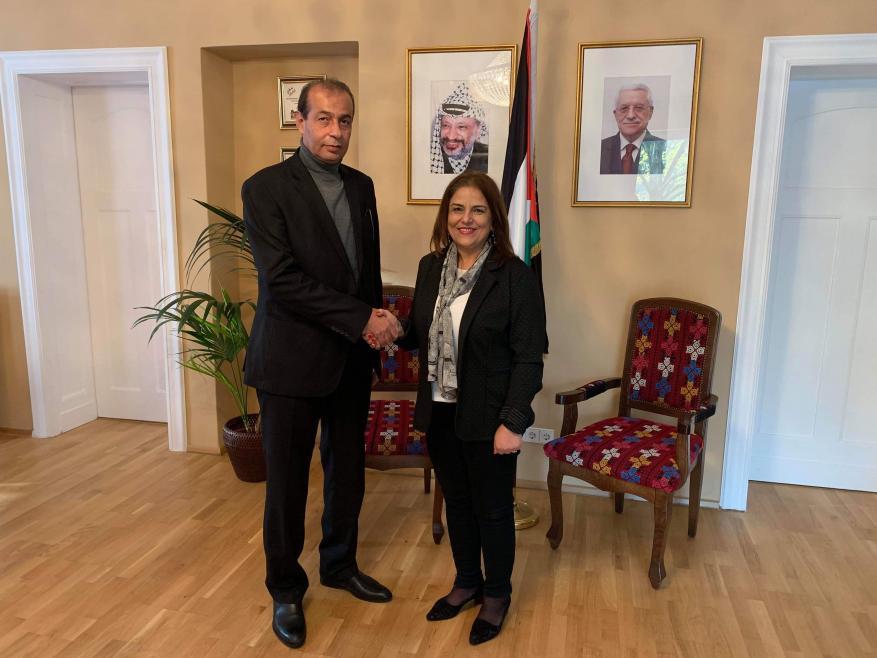 (فدا) يلتقي السفيرة الفلسطينية في برلين