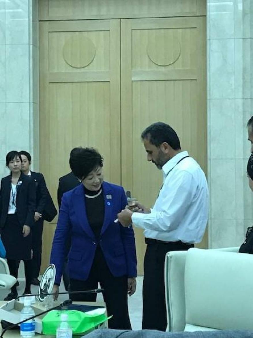 وفد دائرة شؤون اللاجئين الى اليابان يلتقي حاكم طوكيو