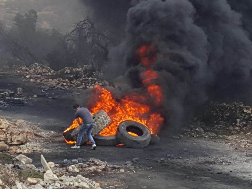اصابة فتى بعيار معدني خلال قمع جيش  الاحتلال لمسيرة كفر قدوم الاسبوعية