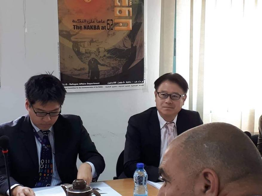 شؤون اللاجئين بالمنظمة وجايكا اليابانية يعقدان اجتماعا للوقوف على سير مشروع تحسين المخيمات