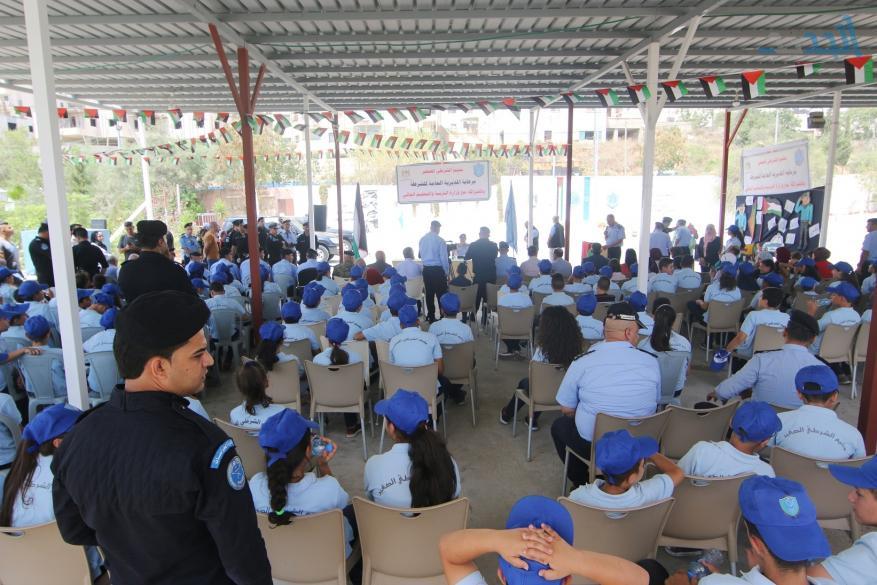 وزير التربية والتعليم واللواء حازم عطا الله يختتمان مخيم الشرطي الصغير في رام الله