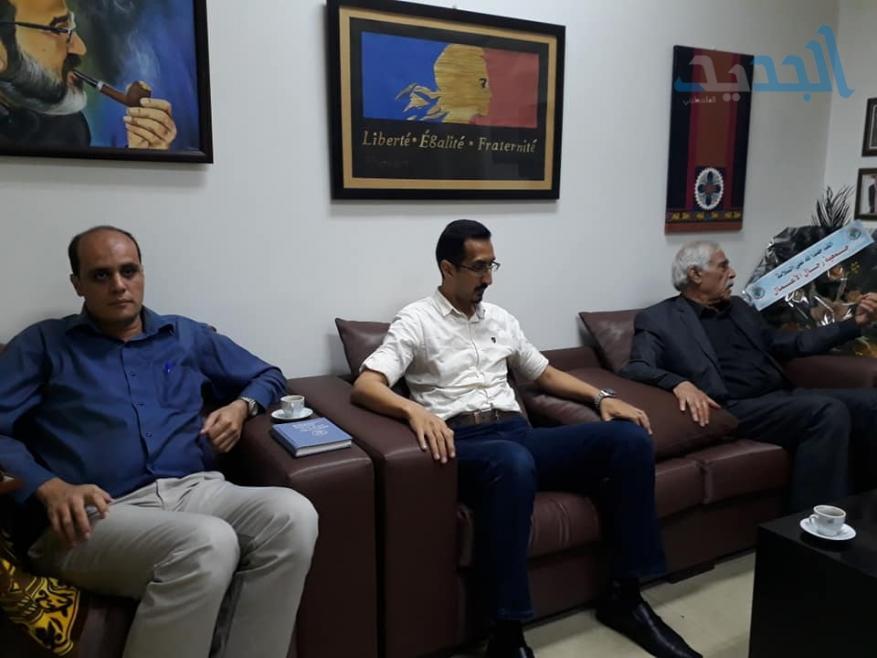 المحافظ أبو النجا يزور الممثلية الفرنسية بغزة مهنئا بكأس العالم
