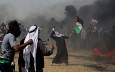 الاحتلال يطلق الغاز على المتظاهرين في جمعة عمال فلسطين