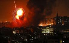 فيديو: 3 شهداء و7 إصابات والطيران الإسرائيلي يواصل قصفه لقطاع غزة