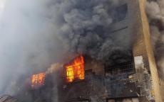 إصابة مواطنة إثر حريق اندلع في نابلس