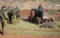 الاحتلال يستولي على معدات زراعية قرب النصارية في الأغوار