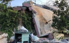 قوات الاحتلال تهدم منزل عائلة الطفل محمد دار يوسف، في قرية كوبر، شمال مدينة رام الله