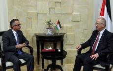 الحمد الله يستقبل السفير الأردني بمناسبة انتهاء مهامه
