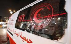 اصابة 10 مواطنين في حادث سير غرب نابلس