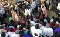 هندي يجلد زوجته 100 مرة.. ورجال يحاولون اغتصابها!