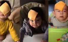 تحدٍ جديد على مواقع التواصل... الجبنة على رأس الطفل!!