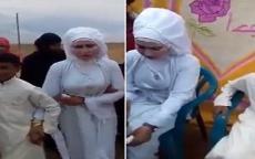 شاهد.. حفل زفاف فتاة ناضجة من طفل