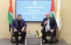 محافظ سلطة النقد يستقبل محافظ البنك المركزي الأردني