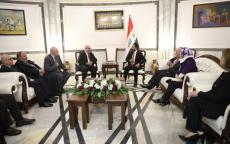 وفد من المجلس الوطني الفلسطيني يطلع رئيس مجلس النواب العراقي على تطورات القضية الفلسطينية