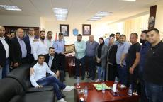 اللواء حازم عطا الله يستقبل وفد من حركة فتح في اقليم القدس
