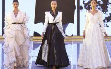 فساتين للمحجبات من أسبوع الموضة العربي