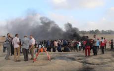 قوات الاحتلال الإسرائيلي تواصل اقتراف المزيد من جرائمها في قطاع غزة، وتستهدف المدنيين الفلسطينيين المشاركين في مسيرات العودة وكسر الحصار مقتل مدني فلسطيني، إصابة 98 آخرين منهم 10 أطفال وامرأة