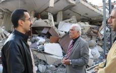 الوزير أبو النجا يتفقد آثار العدوان الإسرائيلي في محافظة غزة