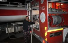 الدفاع المدني يخمد حريق في اريحا