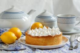 طريقة عمل كيك الليمون بالكريم شانتيه