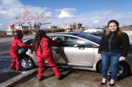 في سابقة.. افتتاح أول مغسل سيارات سوري للجنس اللطيف بطاقم نسائي