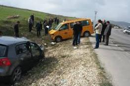 إصابة 129 شخصا في 216 حادث سير بالضفة الأسبوع الماضي