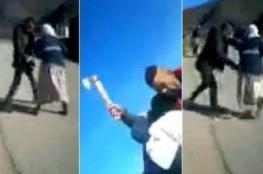 فيديو من المغرب.. شاب هائج يحاول اغتصاب فتاة بالقوة ويعتدي على والدتها بساطور