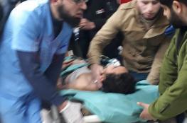19 إصابة بقصف الاحتلال وحدة الإرباك الليلي شرق جباليا