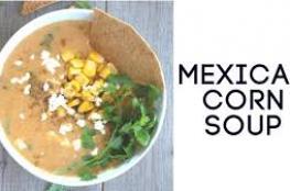 حساء الذرة المكسيكي