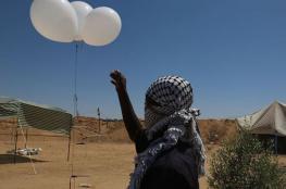 جيش الاحتلال: البالونات الحارقة لن تختفي من غلاف غزة قريبا