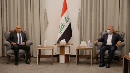 الرجوب يطلع رئيس تحالف الفتح العراقي على آخر المستجدات السياسية