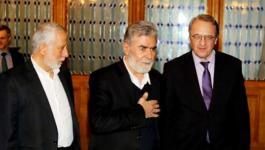 زياد النخالة الأمين العام لحركة الجهاد الاسلامي يترأس وفد حركته في لقاء موسكو