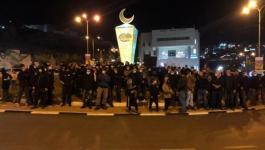إصابات واعتقالات خلال قمع شرطة الاحتلالمظاهرة في أم الفحم