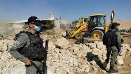 الاحتلال يداهم خربة حمصة ويصور خيام المواطنين