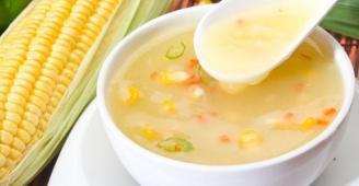 حساء الذرة السريع