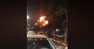 شاهد: فيديو لأحد الصواريخ الفلسطينية.. ومتابعون يصفوه بصاروخ
