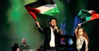 شاهد: محمد عساف وعهد التميمي يشعلان أجواء رام الله الليلة