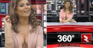 شاهدوا محطة تلفزيونية تجبر مذيعاتها على تقديم نشرات الاخبار شبه عاريات في ألبانيا