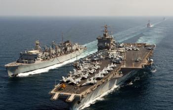حاملة طائرات أمريكية تصل ميناء حيفا اليوم