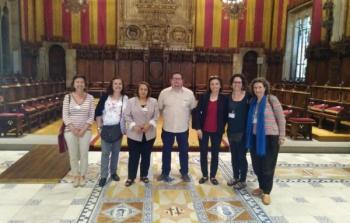 وفد من مؤسسة لجان العمل الصحي يختتم زيارة إلى برشلونة