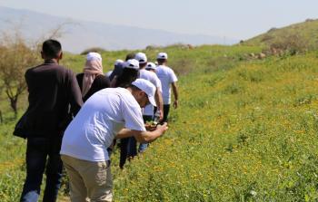 سلطة جودة البيئة تنفذ مسار بيئيا في وادي المالح شرق طوباس