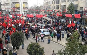 رام الله: مسيرة جماهيرية مركزية لجبهة الديمقراطية في يوبيلها الذهبي