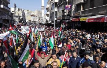 تظاهرات حاشدة في الأردن نصرة للقدس