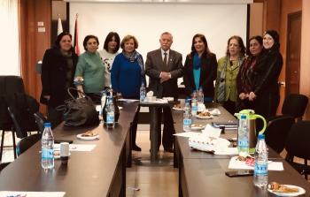 التميمي يستقبل وفد الامانة العامة لاتحاد المراة الفلسطينية