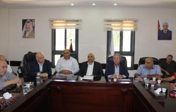 وفد من لجنة المؤسسات والفعاليات الوطنية في محافظة نابلس يزور ملتقى رجال اعمال نابلس